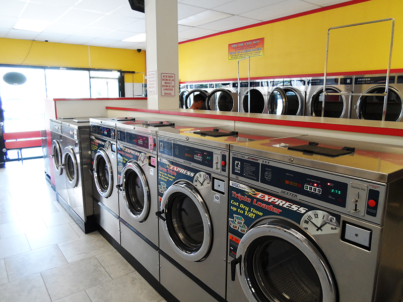 Express coin laundry interior