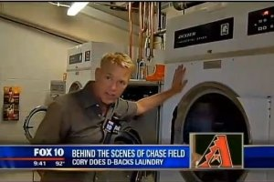 Fox News Visits the AZ Diamondbacks Laundry Facility to Check out the Dexter Laundry Equipment Outfitted by Scott Herrington.