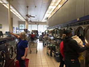 Wash World was busy on Free Laundry Day