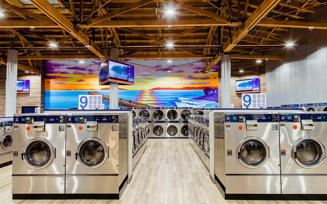 The Ocean Influences a Modern Laundromat in Ventura