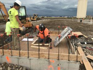 Montana Linen under construction - waste water hatch install