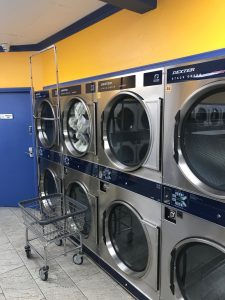 Double Bubble Laundromat - Wall of Dexter Stack Dryers