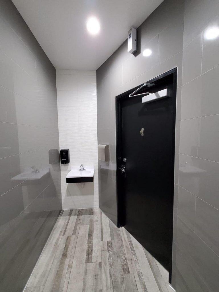 LaundryMax laundromat modern bathroom