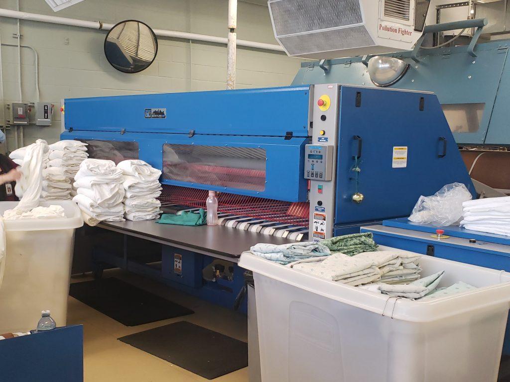 Chicago Dryer Cross Folder - Central Washington Hospital On-Premise Laundry