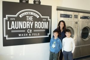 The Laundry Room, Culver City, CA - Owner Denise Morton with her kids