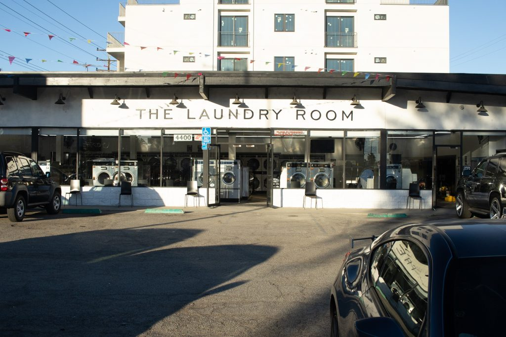 The Laundry Room, Culver City, CA - View from the Parking Lot