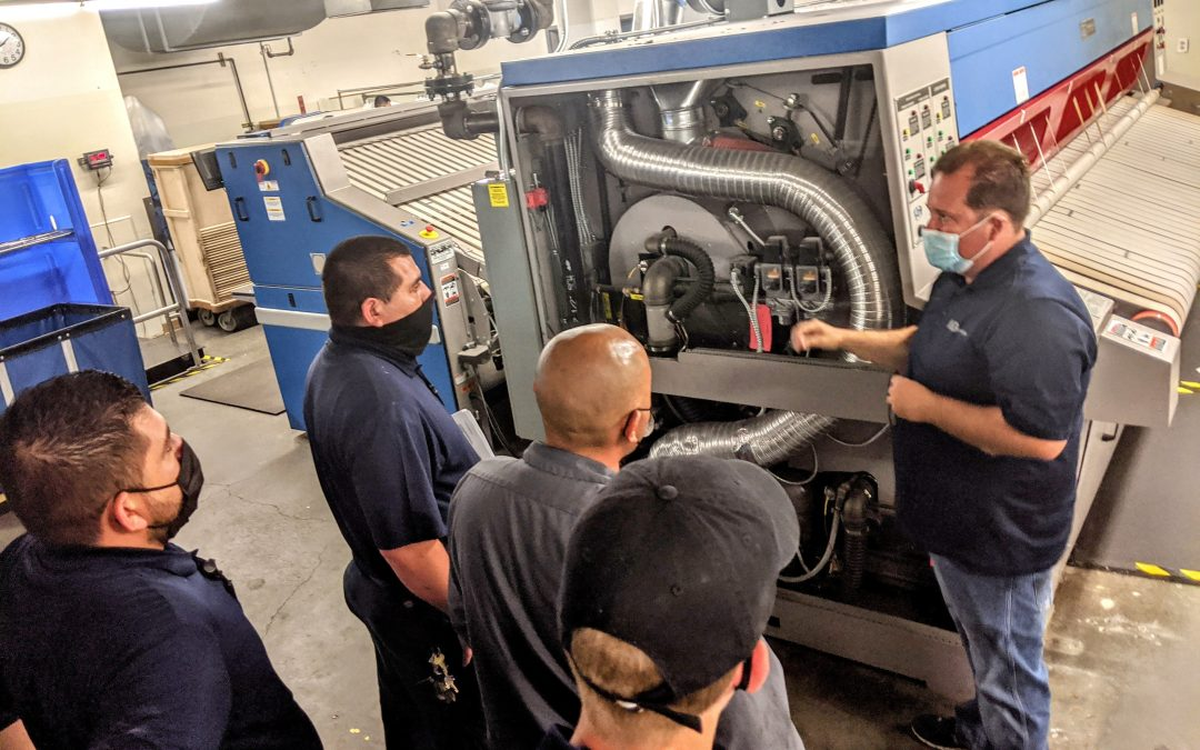 WSD Laundry Specialists Provide On-Site Training at Hotel On-Premise Laundry